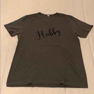"MENs ""hubby"" T-shirt."